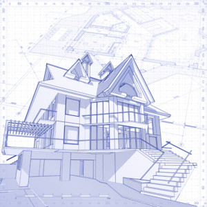 House Drawing and Blueprint